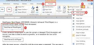 format lop undangan doc 2 methods to center all pictures and text boxes in your word