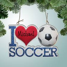 sports soccer ornaments i soccer personalized free