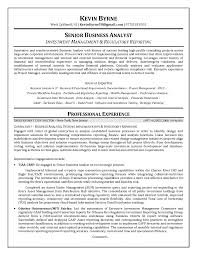 exle of business analyst resume resume senior business analyst resume format business analyst