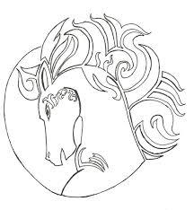 cool horse head tattoo sample for girls picsmine