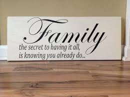 large family the secret to having it all wooden hanging wall decor