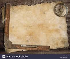Old Map Background Old Treasure Map Background With Compass And Ruler Exploration