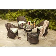 Hampton Bay Patio Set Home Depot by Hampton Bay Haver Hill Iv 5 Piece Patio Dining Set With Green