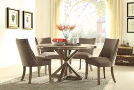 beaugrand 54 transitional round light oak stainless steel trim dining set contemporary 54 inch round dining table