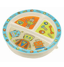 plates that stick to table baby plate divided suction retro robot baby plates and products