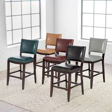 Distressed Leather Dining Chairs Counter Height Chairs Hayneedle