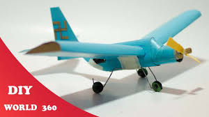 how to make a plane with dc motor diy cardboard craft youtube