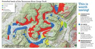 Map Of Tennessee River by Protected Lands Trgt