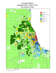 Chicago Neighborhoods Map Neighborhood Types In Chicago 2010 Liberal Landscape
