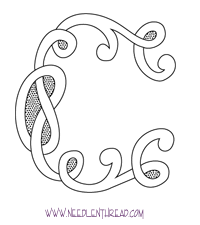 monogram for hand embroidery celtic c hand embroidery
