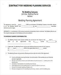 wedding planning services 6 wedding planner printable sle exles in word pdf