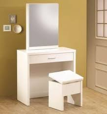 The Brick Vanity Table Simple White Wooden Small Vanity Table Plus Chair Set Over Paving