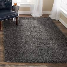 safavieh california cozy plush dark grey charcoal shag rug free