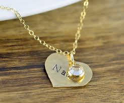 children s birthstone necklace sted heart necklace birthstone jewelry personalized