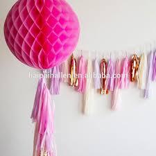 tissue paper streamers bow garland handmade decor the flair exchangethe flair exchange