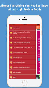 high protein diet foods guide on the app store