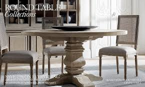 Round Table Collections RH - Restoration hardware dining room tables