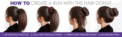 donut hair bun women fashion hair doughnut bun ring shaper donut style updo ebay