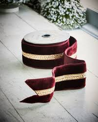 burgundy wired ribbon d burgundy velvet laurel wired ribbon 5 yards
