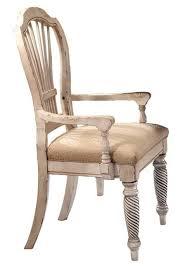 hillsdale wilshire desk set antique white 4508d set