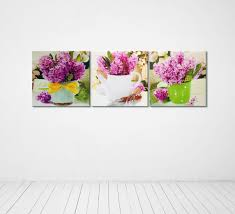Kitchen Wall Art Decor by Flowers Kitchen Wall Decor 3 Piece Canvas