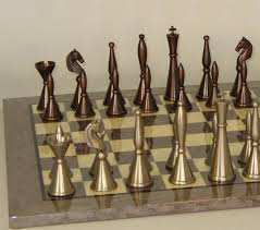 metal chess sets brass pewter chess sets