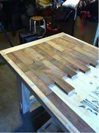 how to make a rustic table how to make a wood plank kitchen table do it yourself fun ideas