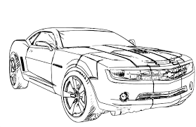 chevy camaro coloring page free download