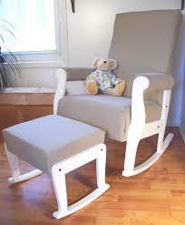 White Glider Rocking Nursery Chair Best Glider Chairs For Nursery With Chair In Regard To