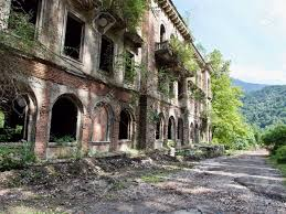 old abandoned buildings old abandoned buildings in sunny summer day dead city at abkhazia