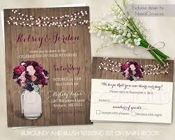 jar wedding invitations boho chic rustic brown multicolor pink purple barn
