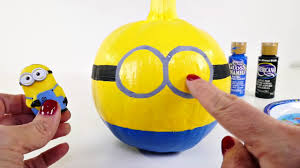 halloween baby toys how to make minion halloween painted pumpkins from toys to arts