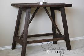How To Make A Wooden End Table by Ana White Truss End Table Diy Projects
