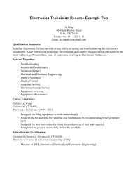Sample Resume With Summary Of Qualifications Ideas Of Sample Resume For Electronics Technician About Summary
