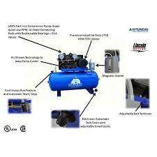 25hp horizontal air compressor polar air by eaton compressor