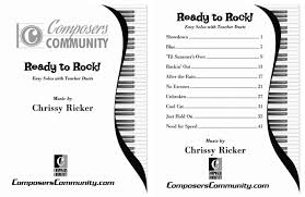 ready to rock songbook by chrissy ricker hardcopy songbook