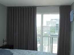 ceiling mounted blackout drape room darkening modern wave drapes