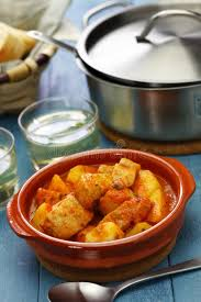 cuisine basque marmitako basque tuna and potatoes stew stock image image of