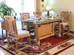 Bamboo Dining Table Set Extraordinary Bamboo Dining Room Set Gallery Best Ideas Exterior
