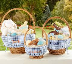 personalized easter basket liners blue plaid easter basket liners pottery barn kids
