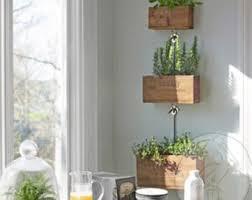 wooden planter box etsy