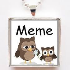 Meme Grandmother Gifts - com cute owl meme grandmother glass tile pendant necklace