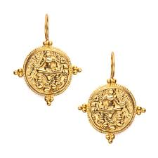 earring gold quatro coin earrings gold julie vos