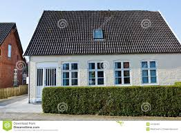 white small house in europe stock photo image 44185467