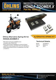 ohlins alternative spring kit for honda zoomer x 60000 02