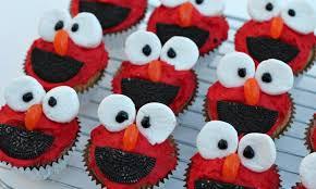 elmo cupcakes elmo cupcakes kidspot