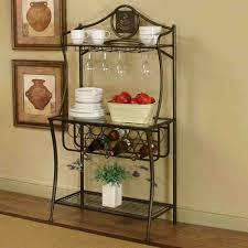 bakers rack with wine glass holder designer ideas bakers rack