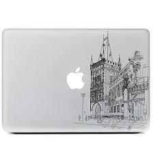 cool sketch city building vinyl decal laptop skins case for apple