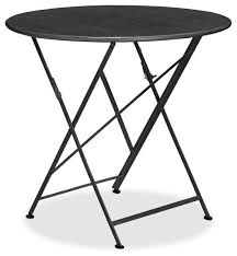 Black Bistro Table Tavern Folding Bistro Table Black Traditional Outdoor
