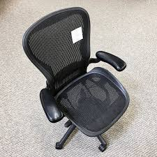 Used Herman Miller Office Furniture by Used Herman Miller Aeron Chair Size Large Old Style Black